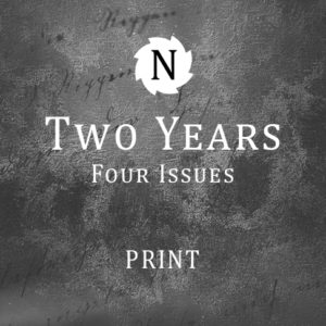 A subscription to the print edition of Neon Literary Magazine, delivered to your door twice a year, wherever you happen to be in the world
